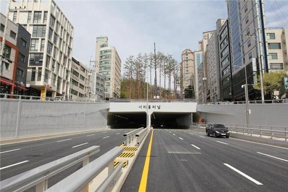 서리풀터널 22일 개통...내방역~강남역 출퇴근 시간 20분 단축