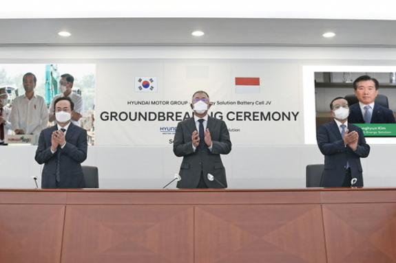 현대자동차그룹-LG에너지솔루션, 인도네시아 배터리셀 합작공장 착공